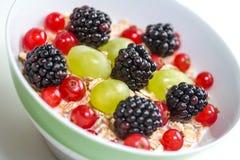 Frukter och havremjöl Royaltyfria Bilder