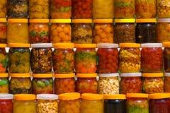frukter på burk Royaltyfri Foto