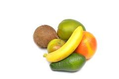 Frukter på en vitbakgrund Arkivbild