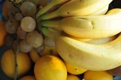 Frukter på tabellen cathced med solen arkivfoton