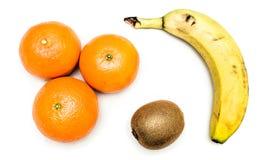 Frukter på vit Royaltyfria Foton
