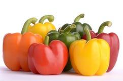 frukter pepprar sju Arkivfoton