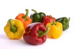 frukter pepprar sju Arkivfoto