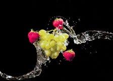 frukter plaskar Royaltyfria Bilder