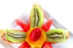 frukter plate tropiskt Arkivbild