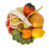 frukter plate tropiskt Royaltyfri Bild