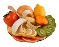frukter plate tropiskt Arkivfoton
