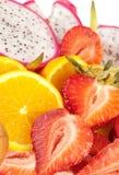 frukter plate tropiskt Fotografering för Bildbyråer
