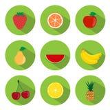 Frukter sänker symboler vektor illustrationer