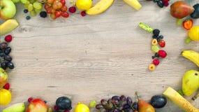 Frukter som göras bokstav Y arkivfilmer