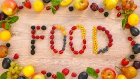 Frukter som göras ordmat Arkivfoto