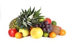 Frukter som isoleras på white Royaltyfria Bilder