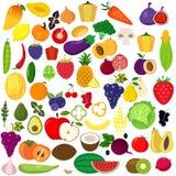 frukter ställde in grönsaker stock illustrationer