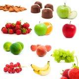 frukter ställde in grönsaker royaltyfri foto