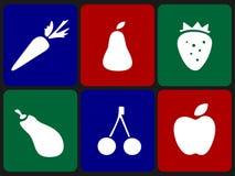 frukter ställde in grönsaker Arkivbild