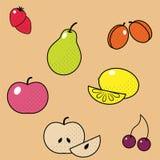 frukter ställde in vektorn textur för stor modell för färger repeatable royaltyfri fotografi