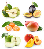 frukter ställde in grönsaker Arkivbilder