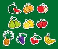 fruktetikett Arkivfoton