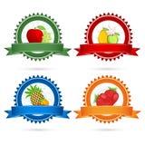 fruktetiketter Royaltyfri Bild