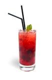 fruktexponeringsglaslemonade Arkivfoto