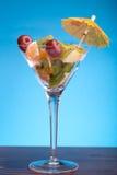 fruktexponeringsglassallad Royaltyfria Foton