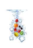 fruktfärgstänk Royaltyfri Fotografi