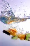 fruktfärgstänk royaltyfri foto