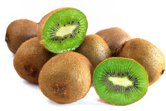 Fruktf-Kiwi auf weißem Hintergrund Stockbild