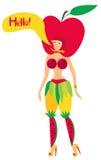 fruktflicka Royaltyfri Bild