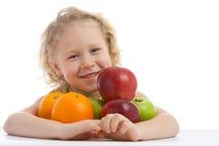 fruktflicka Fotografering för Bildbyråer