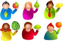 fruktfolk vektor illustrationer