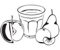 fruktfruktsaft vektor illustrationer