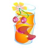 Fruktfruktsaft i ett exponeringsglas Royaltyfri Bild