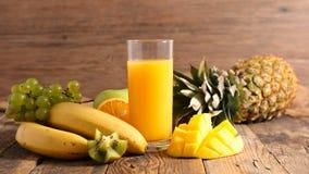 Fruktfruktsaft och ingrediens Royaltyfri Bild