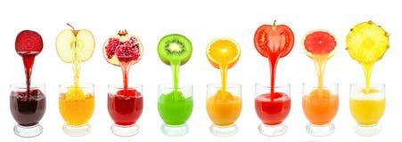 Fruktfruktsafter Arkivfoton