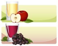fruktfruktsaftset vektor illustrationer