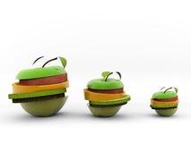 fruktgruppskivor Arkivbild