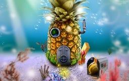Frukthus, dröm, härliga bilder, underbart sötsakhem Royaltyfri Fotografi
