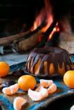 Fruktkaka med choklad Arkivfoton