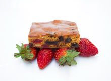 Fruktkaka med jordgubben Royaltyfria Bilder