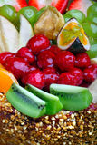 Fruktkakaslut upp royaltyfri fotografi