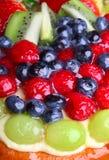 Fruktkakaslut upp royaltyfri foto