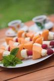 fruktkebabs Royaltyfri Bild