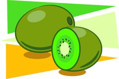 fruktkiwi stock illustrationer