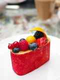 Fruktkompottefterrätt Royaltyfria Foton