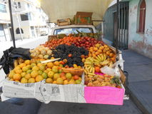 Fruktlastbil Fotografering för Bildbyråer