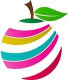 Fruktlogo stock illustrationer