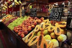 Fruktmarknad fotografering för bildbyråer