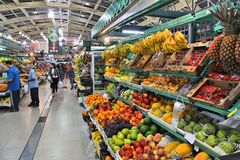 Fruktmarknad i Brasilien arkivfoto