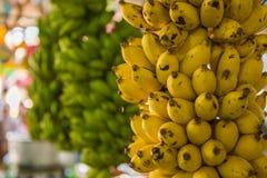 Fruktmarknad med olika färgrika nya frukter Fotografering för Bildbyråer